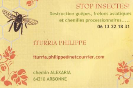 ITURRIA PHILIPPE STOP INSECTE