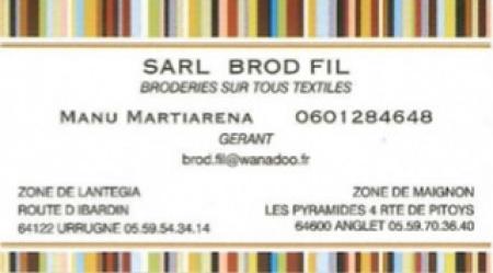 BROD FIL SARL BRODERIE